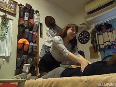 Shy amateur Japanese babe Mishima Natsuko pounded missionary