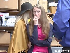 Mature ungentlemanly and her stepdaughter get punished for shoplifting
