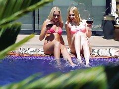 Ruffled blondes enjoy their holiday fucking enclosing boyfriend long