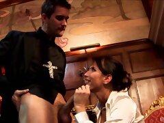 Kinky fucking between a priest and naughty floosie Lezley Zen