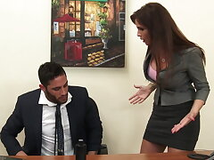 Sexy milf boss Syren De Mer exploits worker be advantageous to dick hd