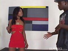Balls deep brashness and pussy fucking for ebony slattern Destiny Dane