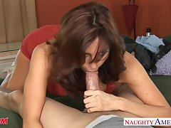 Playful MILF with sexy boobies Tara Wine and dine wanna some sensual doggy