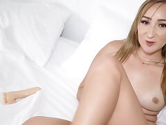 Curvaceous hottie masturbates after being drilled foreign behind