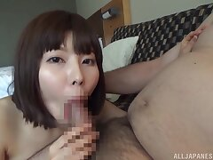 Japanese doll sure wants this fucker in her cunt