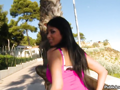 Amazing French beauty Anissa Kate giving head in public