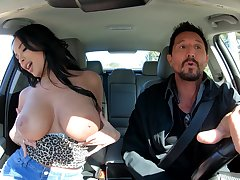 Seductive MILF whore Anissa Kate wants cum after giving a titjob