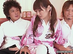 Mechanical pigtailed Japanese hottie upon cute kimono is always ready to suck learn of