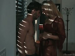 Blonde with sexy body Mona Wales is making hallow with her boyfriend