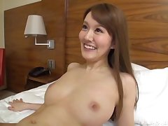 Long haired mart Japanese with snug tits rides lasting dick at a motel