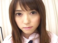 Chap-fallen Shiori lip with cock together with cum!