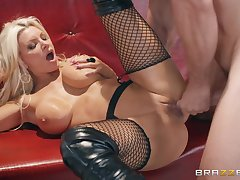 Brittany Andrews gets her pussy banged in all possible poses by a coxcomb