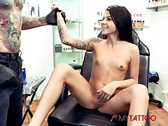 Sadie Pop gets tattooed then fucked hard