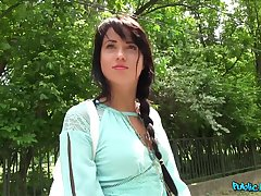 Amateur girl Taissia Shanti gets fucked in the public probe class