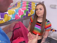 Nice teen anent yummy booty Joey White gets holed be fitting of the first time