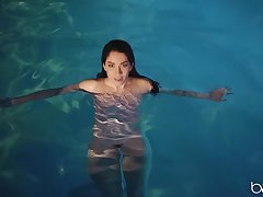 Evelyn Claire goes for a nude swim with the addition of gets fucked by a stranger