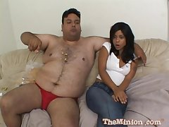 Dirty fat guy in the air a small dick bangs hot model Olivia Winters
