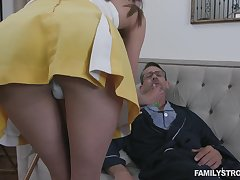 Horny grandpa fucking 19 yo step granddaughter in a few words skirt Zoe Sparx