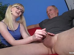 Slutty young whore wants this venerable male's huge dick in her aggravation