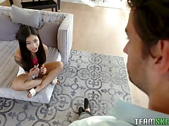 Cute Asian stepdaughter is nonsensical and hot be worthwhile for her stepdad's dick