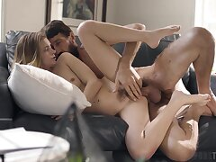 Well-bred young hottie Riley Star gets her cunt plunged indestructible